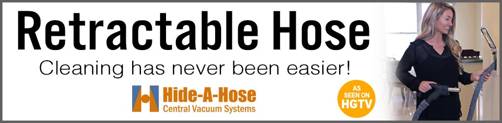 Retractable Hide-a-Hose makes central vacs even easier
